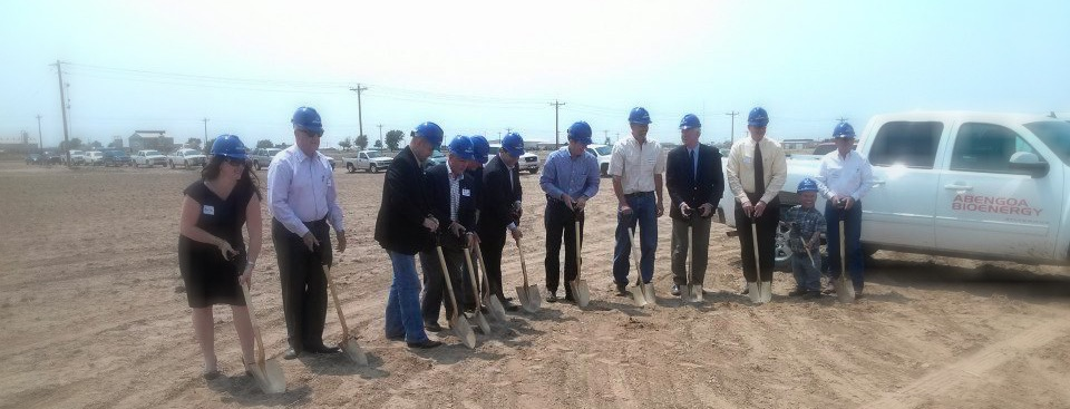 Our team breaking ground.